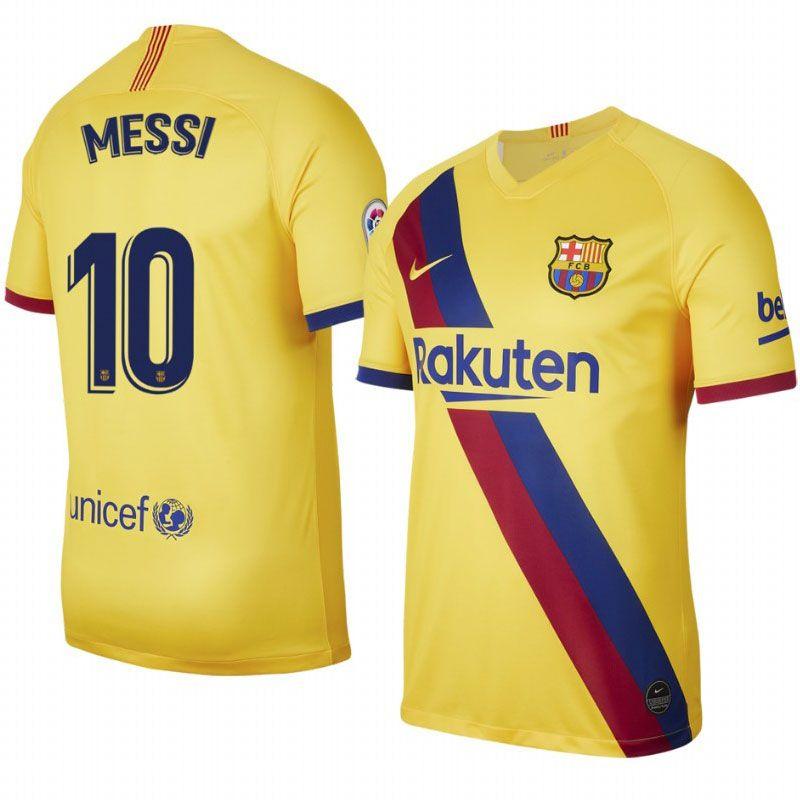 Nike Barcelona 2019 Away Jersey Messi 10 Barcelona Apparel Soccer Village