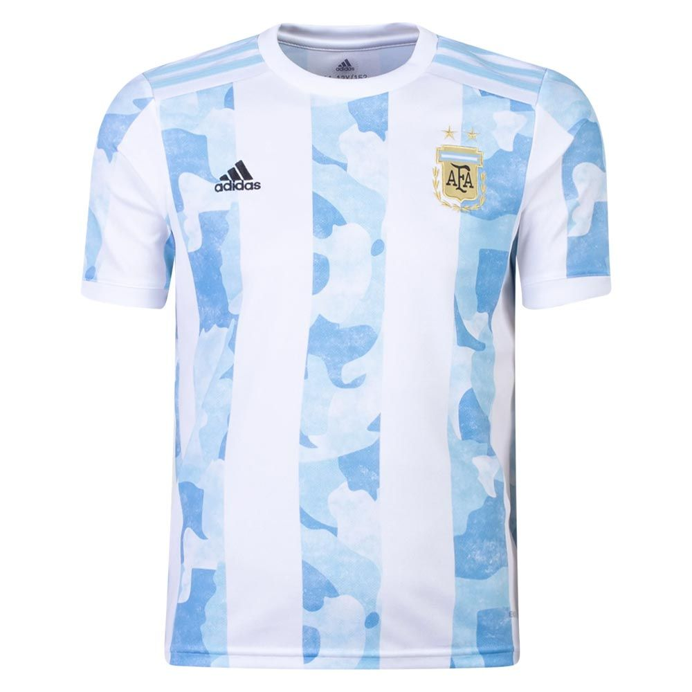 adidas Argentina 2021 Youth Home Jersey - Argentina Apparel ...