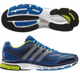 adidas Mens Supernova Sequence 6 Running Shoe - Blue/Metallic Silver/Electric Green