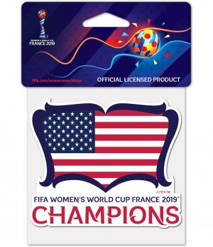 USWNT Champs Decal 4 inch X 4 inch