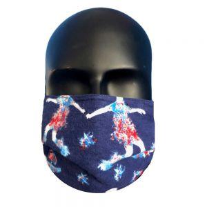 Soccer Print Protective Mask