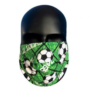 Soccer Ball in Net Print Protective Mask