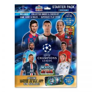 Topps Champions League 2019/20 Cards Starter Pack (Album, 17 Cards + 1 Limited Edition Card)