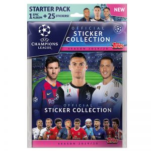 Topps Champions League 19/20 Stickers Starter Pack (Album + 20 Stickers)