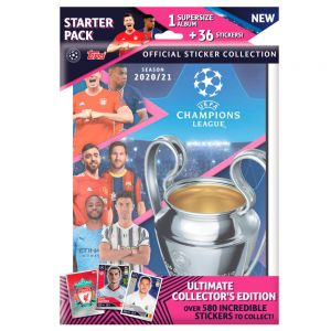 Topps Champions League 2020/21 Stickers Starter Pack (Album + 36 Stickers)