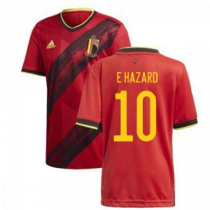 adidas Belgium 2020 Home Jersey HAZARD 10