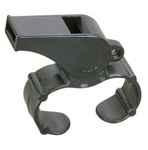 Medium Plastic Whistle with Finger Grip