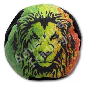 Rasta Lion 12 Panel Footbag