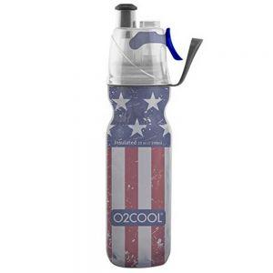 O2 Cool Mist N Sip 20 oz Patriotic Water Bottle