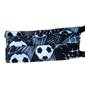 Shooting Soccer Balls Face Mask