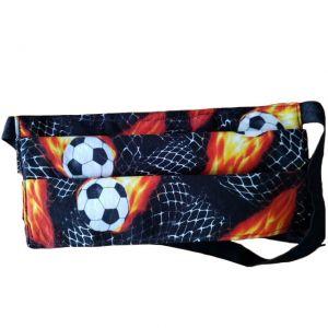 Flaming Soccer Balls Face Mask