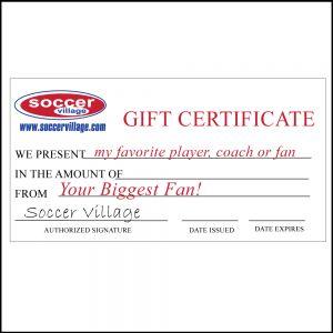 Soccer Village Gift Certificate