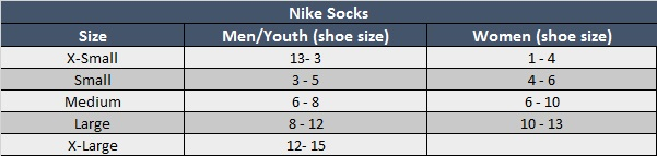 Sizing Chart | Soccer Village